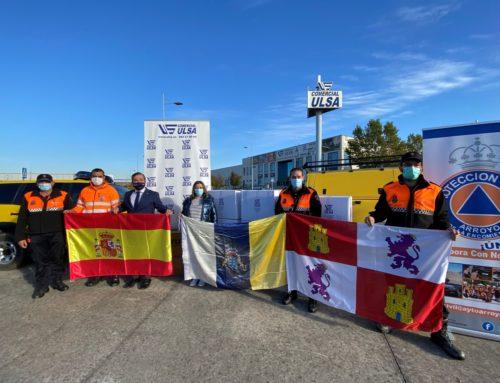 Comercial Ulsa dona material de seguridad y vestuario a La Palma